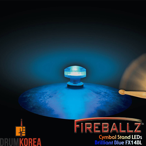 [드럼코리아 1599-3867] Fireballz - Cymbal LEDs (LED 윙넛) -Brilliant Blue- FX14BL-