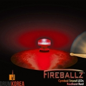[드럼코리아 1599-3867] Fireballz - Cymbal LEDs (LED 윙넛) -Radiant Red- FX14RD-