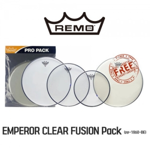 [드럼코리아 1599-3867] REMO - EMPEROR CLEAR FUSION PLUS 패키지 (PP-1860-BE)
