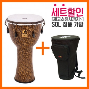 [드럼코리아 1599-3867] Toca - 특허 Synthetic Body Freestyle 2 젬베이 12인치 Gold Mask Synthetic Head TF2DM-12GM