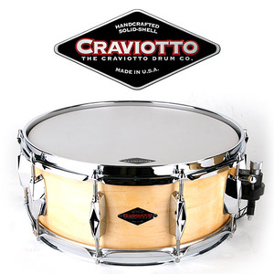 "[드럼코리아 1599-3867] Craviotto - JOHNNY C SERIES / SOLID SHELL MAPLE 5.5x14, 45"" 스네어드럼"