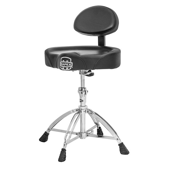 MAPEX Deluxe Saddle-Seat Drum Throne with Back Rest- 마팩스 T775 등받이 모터사이클형 드럼의자