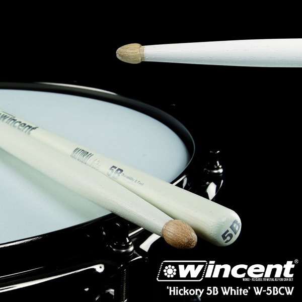 Wincent Hickory 5B White Drum Stick /W-5BCW 윈센트 드럼스틱
