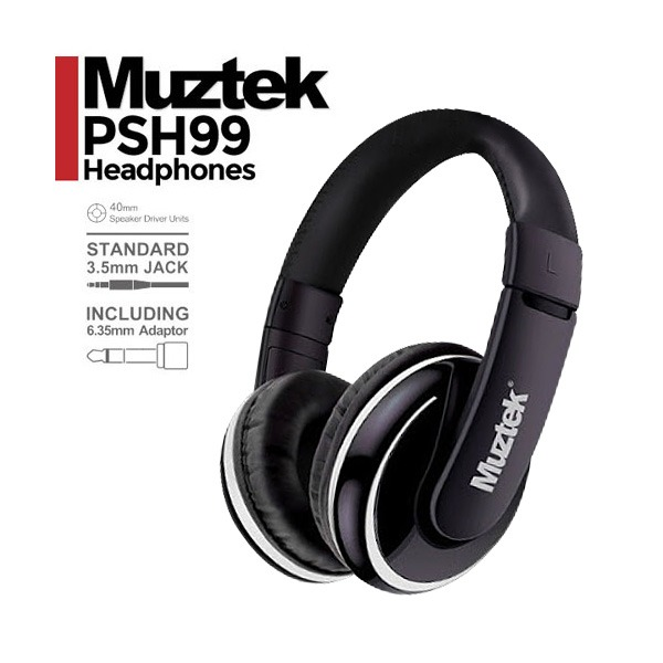 Muztek - Pure Sound Headphones 퓨어사운드헤드폰 PSH99