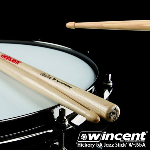 Wincent Hickory 5A Jazz Stick /W-JS5A 윈센트 드럼스틱