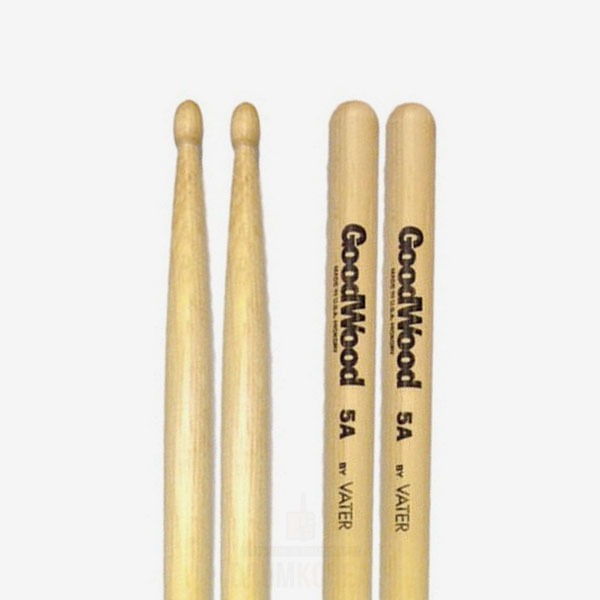 VATER - 5A Good Wood Hickory 베이터 굿우드 히코리 드럼스틱 GW5AW